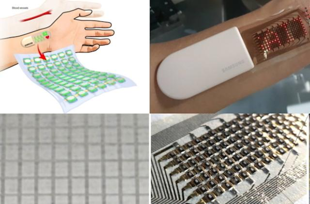 """Samsung's retractable electronic """"skin"""" can detect and display your heartbeat"""
