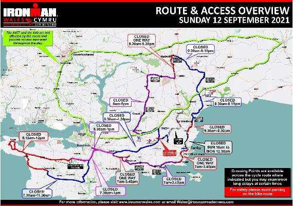 Road closure consultations for Ironman Wales - should the event get go-ahead for 2021