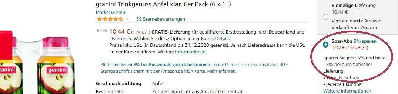Amazon Spar-Abo: So bekommt ihr bis zu 15 % Rabatt