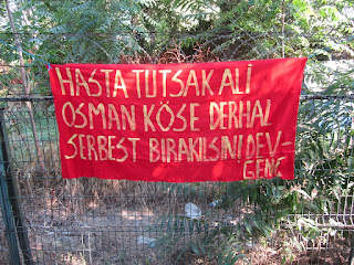 Giant-Genç hung a banner for Ali Osman Köse