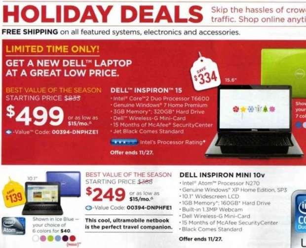 Dell Black Friday-Anzeige